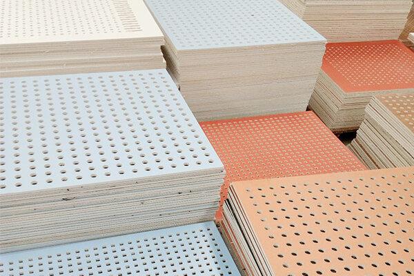 KET acoustic ceiling design colours